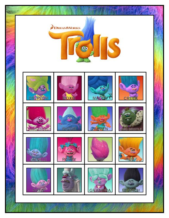 40 Best Trolls Birthay Party Images On Pinterest Troll