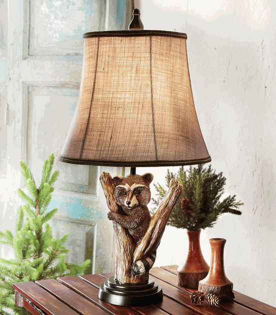 Raccoon Accent L& - A Black Forest Decor Exclusive - A smiling raccoon looks through branches on the charming polyresin Raccoon Accent L& with a ... & 150 best Black Forest Decor Catalog images on Pinterest | Black ... azcodes.com