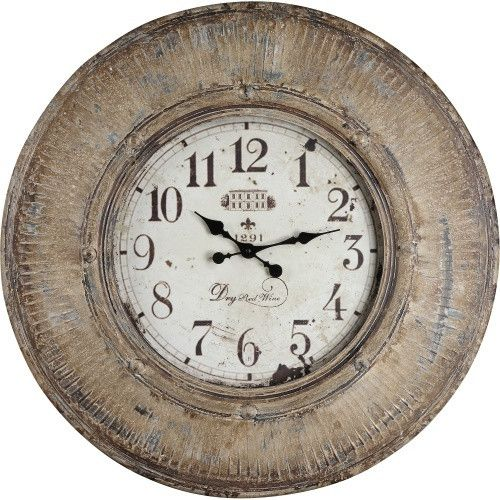 Kensington 29.5 in. Heavily Distressed Oversized Wall Clock - Wall Clocks at Hayneedle