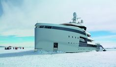 With its reinforced, Polar Class hull and an ice-breaking stern, it can easily traverse the Arctic reaches. It's the world's first private expedition yacht built to the Polar Class specification, which will be required to visit polar regions by 2017.