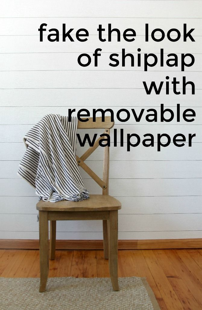 Make A Faux Shiplap Wall With Peel And Stick Shiplap Wallpaper Faux Shiplap Peel And Stick Shiplap Ship Lap Walls