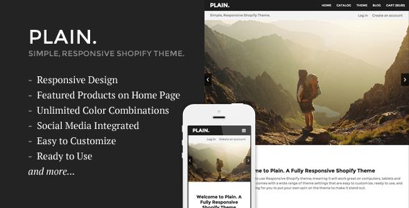 Plain - Responsive Shopify Theme & Template eCommerce - Download Here : http://themeforest.net/item/plain-responsive-shopify-theme/6924624?s_rank=127&ref=yinkira