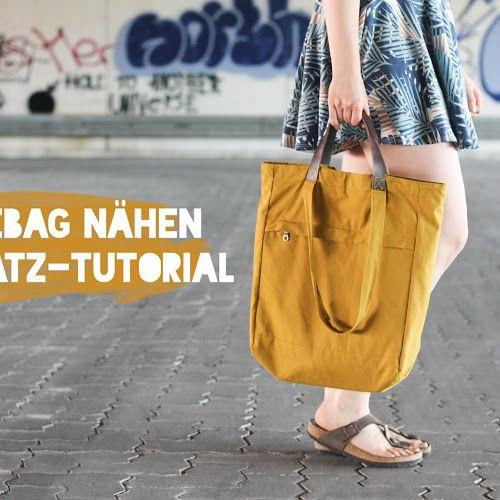 It\'s Tutorial Time! – Totebag-Rucksack nähen   Nähen   Pinterest ...