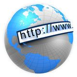 Mundo ancho del Web Fotos de archivo libres de regalías