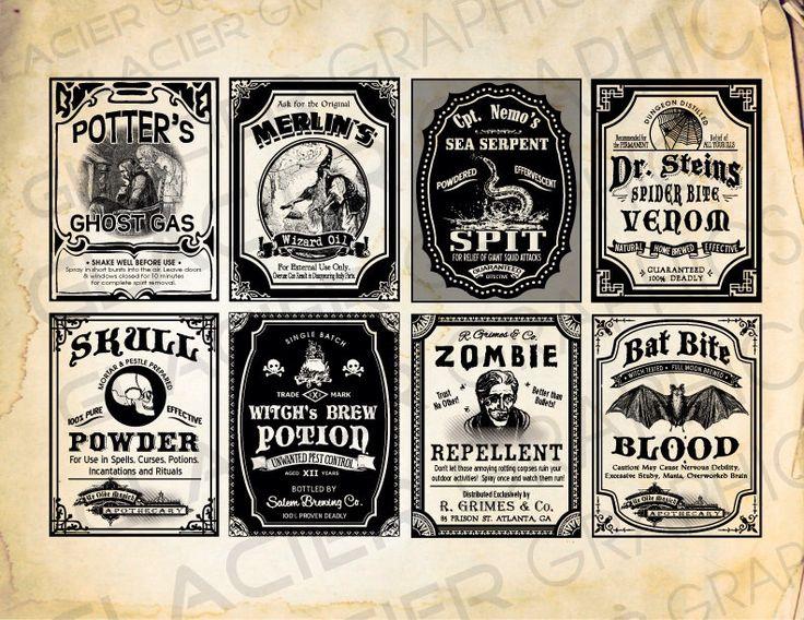 Printable Halloween Poison Labels