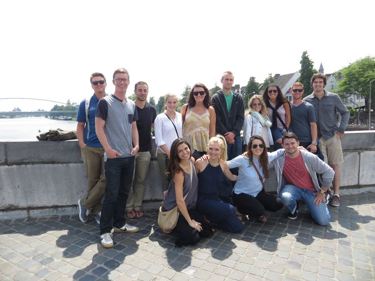 Group shot on St Servaas, our 2000 year old bridge in #Maastricht
