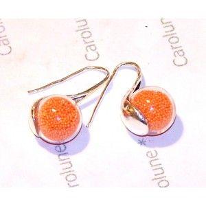 Boucles d'oreilles globes en verre - Carolune en Provence