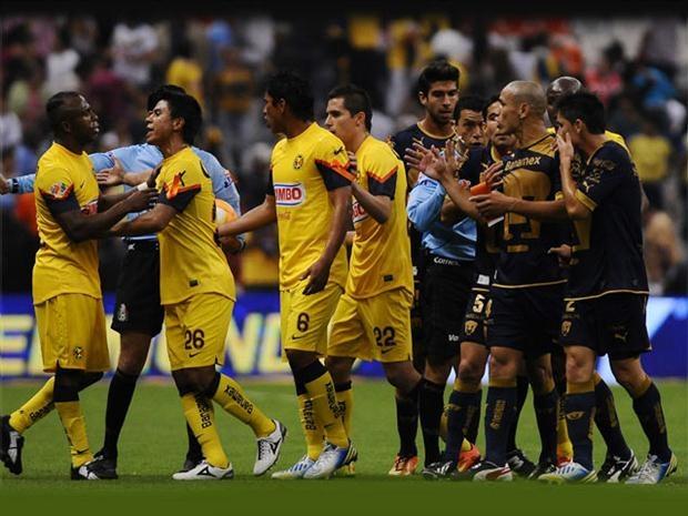 Pumas vs América En Vivo por Canal 5 de Televisa Deportes juego de ida de los Cuartos de Final de la Liga MX Clausura 2013 juegan hoy Miércoles 8 de Mayo del 2013 a partir de las 21:00hrs Centro de México en el Estadio Olímpico Universitario. México, DF.