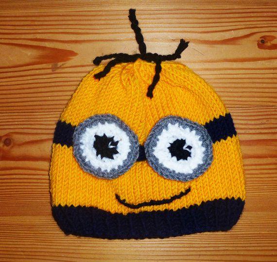 Minion lustige Mütze Beanie für Kinder und von Gluecksfrosch