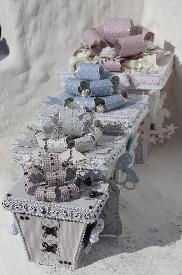 Mitt Lille Papirverksted: The Baby Vintage Gift Boxes