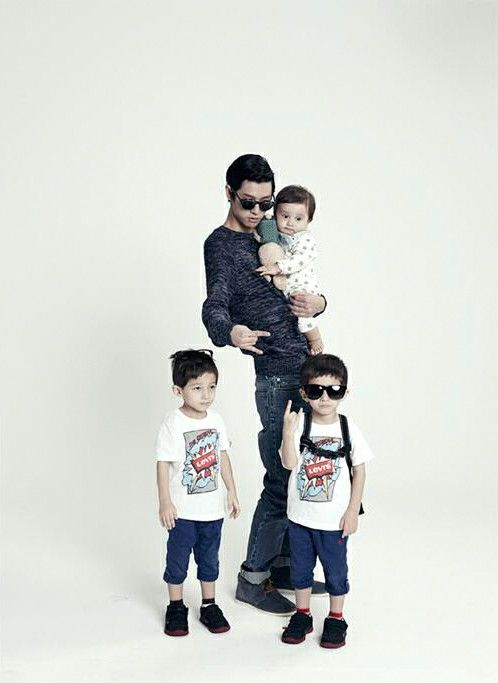 Jung joon young with 3 kids