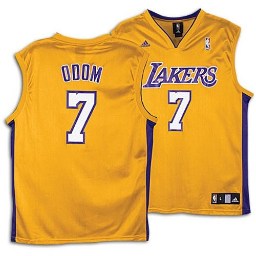 Authentic Lamar Odom White Los Angeles Lakers Jersey Size 56 This ...