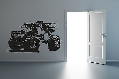 Wall Mural Vinyl Decal Sticker CARS Baseball logo Monster track R001