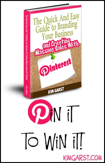 PIN IT to WIN your copy of The Quick and Easy Guide To Branding Your Business and Creating Massive Sales with #Pinterest! PIN IT TO WIN IT! We'll pick a winner tonight, 3/12 at 10:00 pm ET! GET READY, GET SET...PIN!