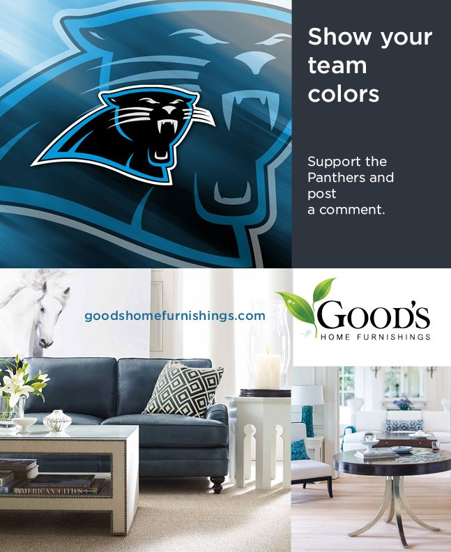 Blue Gives Any Room A Pop Of Color, While Also Showing Support For Our Home  Team The Carolina Panthers