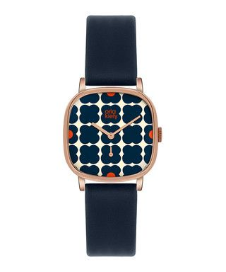 Iris rose gold-tone & navy watch Sale - Orla Kiely Sale