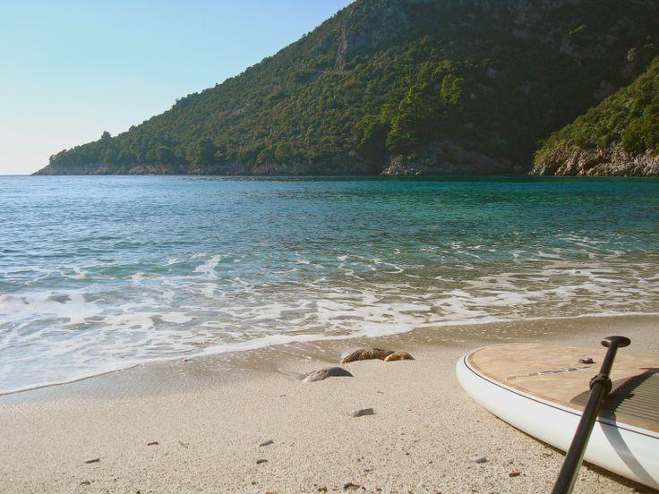 Limonari beach Skopelos, one of the sandier beaches here.