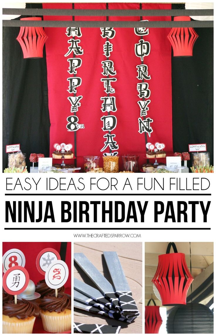 Need some inspiration for your next party? How about throwing a Ninja Birthday Party! These easy ideas will help to make it a success.
