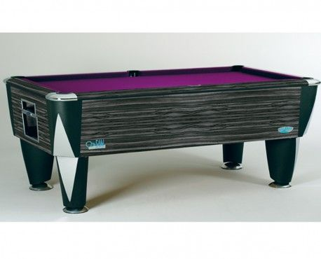 BI Atlantic Champion ZEBRANO freeplay laminated 7ft UK pool table with purple speed cloth.  Shop here: http://www.snookerandpooltablecompany.com/pool-tables/uk-pool-tables/modern-bespoke-uk-pool/zebrano-7ft-pool-table.html