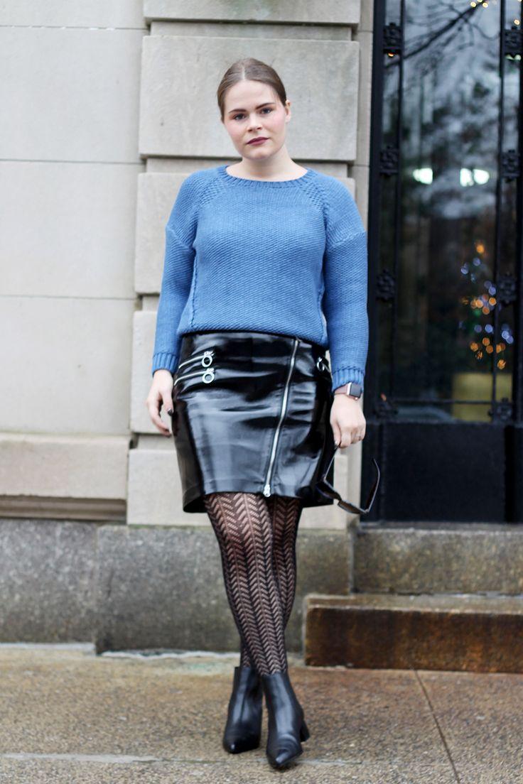 Vinyl Mini Skirt Ootd Www Streetstylecity Blogspot Com