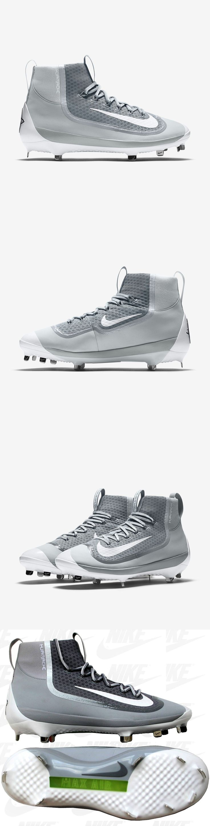 Mens 159059: New Nike Air Huarache 2K Filth Elite Mid Metal Baseball Cleats Grey 749359-011 -> BUY IT NOW ONLY: $59.9 on eBay!
