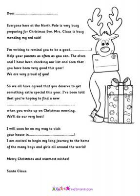 Letters from Santa! Free letters from Santa to print off - #Netmums