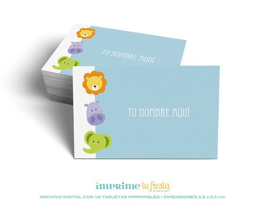 Printable BUSINESS CARDS | Lovely designs for Kids | Prints as many times you want | 8 Completely CUSTOMIZED cards for you!