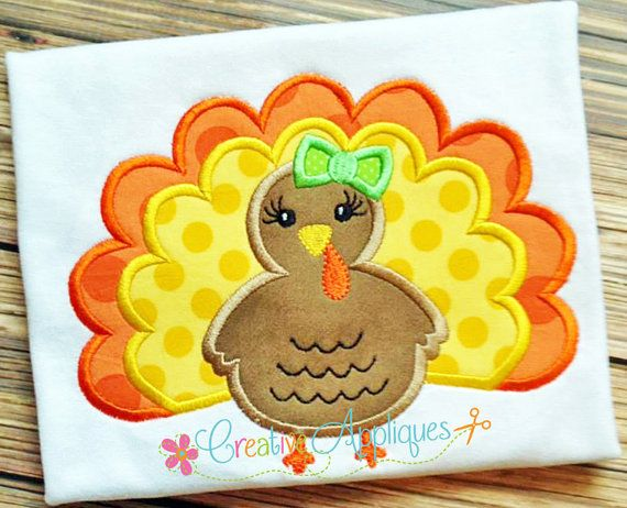 TURKEY GIRL DIVA PRINCESS DIGITAL MACHINE EMBROIDERY DESIGN 4 Sizes INSTANT DOWNLOAD Such a little diva priss our turkey girl is. So sweet and all dolled up for Thanksgiving. Includes step by step color chart. Design comes in 4 sizes: 4 X 4, 5 X 7, 6 X 10, and 8 X 8 (Durkee/Fast