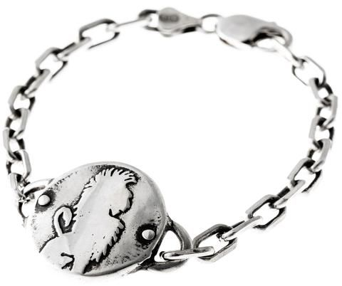 Lion Medallion - heavy link bracelet