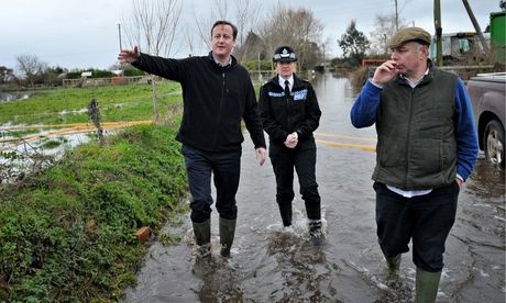 """Flood area defences put on hold by government funding cuts. Shocking tales ..... """"Undelivered defences, totalling many millions of pounds, also include schemes on the stretch of Devon coast at Dawlish where the mainline railway fell into the sea and near the nuclear power station at Hinkley Point in Somerset."""""""