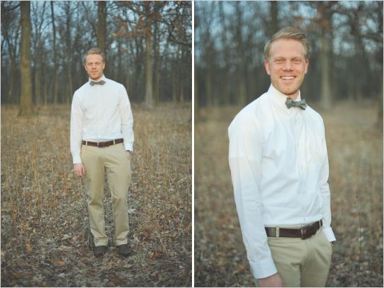 semi-casual groom looks. But want dark brown pants, light brown shirt rolled up sleeves with mint tie