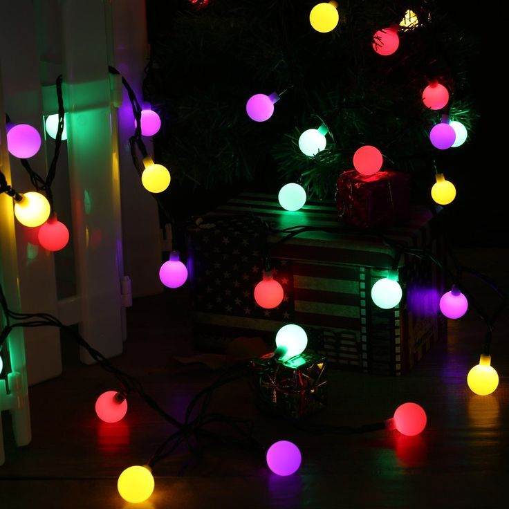 21 best luckled string llights images on Pinterest Holiday - solar christmas decorations