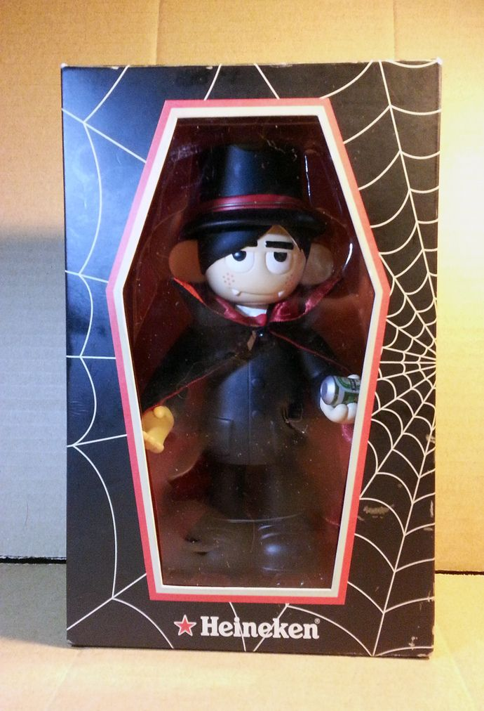 Heineken Beer Halloween vampire Dracula Plastic Vinyl Figure Toy New In Box by mycoffeeboy, $250.00 HKD