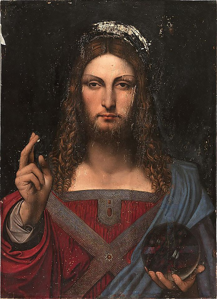 Studio Of Leonardo Da Vinci Salvator Mundi De Ganay Version