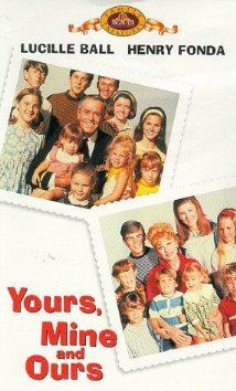Yours, Mine and Ours (1968).  The real one. Lucille Ball. Henry Fonda. Van Johnson. Comedy based on a true story.  This is the best version.