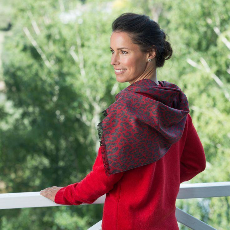 100% Silk Scarf Red Grey Leopard http://www.creswickwool.com/accessories/scarfs/100-silk-scarf-red-grey-leopard.html