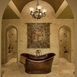 Medieval Home Decorating Design, Pictures, Remodel, Decor and Ideas - page 2 (I like the stonework color, and the doors.)