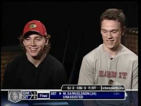 pat kane and jonathan toews-know your teammate - YouTube--high as kites for this interview pretty sure..