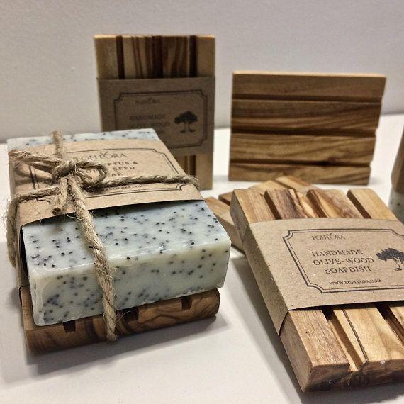 Gift Set Natural Handmade Soap Amp Handcrafted Olive Wood