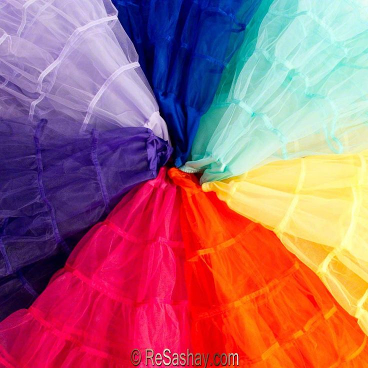 Resashay 50s style crinolines in every color imagineable. $39.50 I think I need a lime green, hot pink, red, turquoise, baby blue and black one.