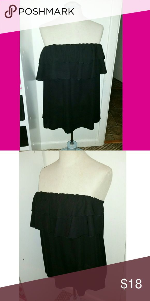 Giddy Up Glamour Black strapless blouse from the boutique Giddy Up Glamour Giddy Up Glamour Tops Blouses