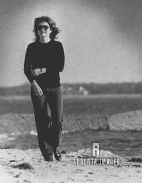 November 22, 1983: Jackie walks the beach at Hyannis, on the 20th anniversary of JFK's death.