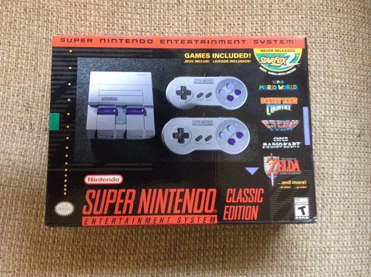 Super Nintendo Entertainment System: Super NES Classic Edition: $125.00 (0 Bids) End Date: Monday Feb-26-2018 13:18:25 PST Buy It Now for…