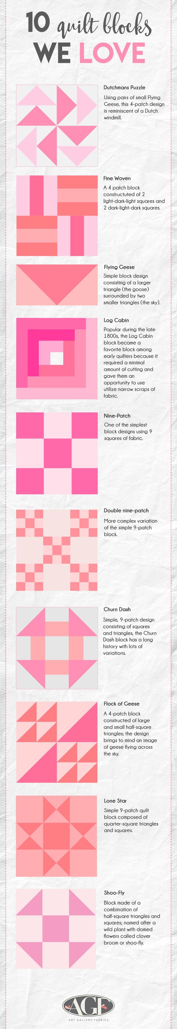 10 quilt blocks we love!