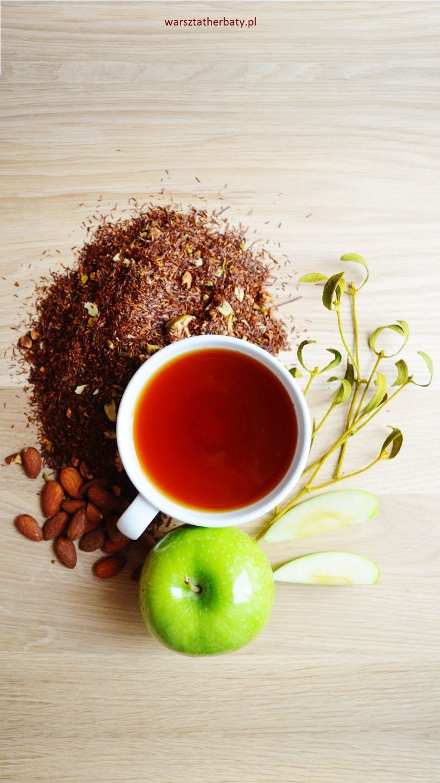 W Jabłkowym Sadzie - rooibos z zielonym jabłkiem, migdałami i jemiołą. APPLE ORCHARD - ROOIBOS WITH GREEN APPLE, MISTLE TOE AND ALMONDS http://warsztatherbaty.pl/rooibos/263-rooibos-w-jablkowym-sadzie.html