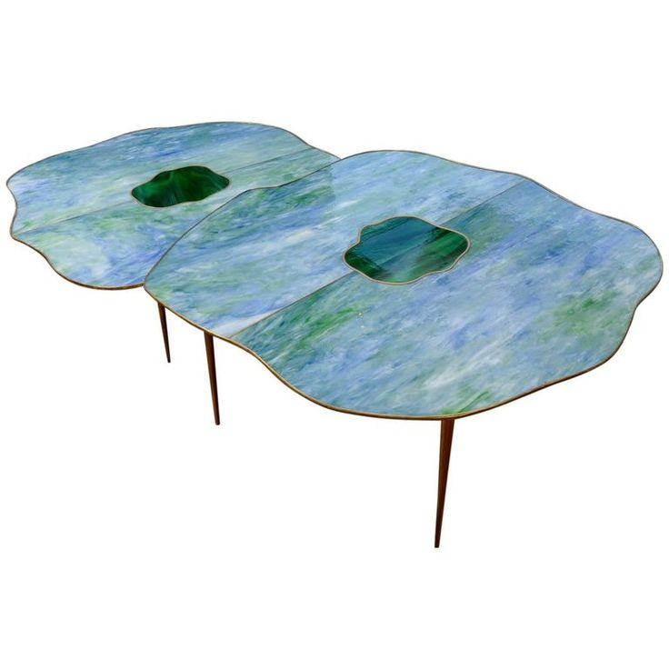 Pair of Mirror Free Shape Low Tables 1