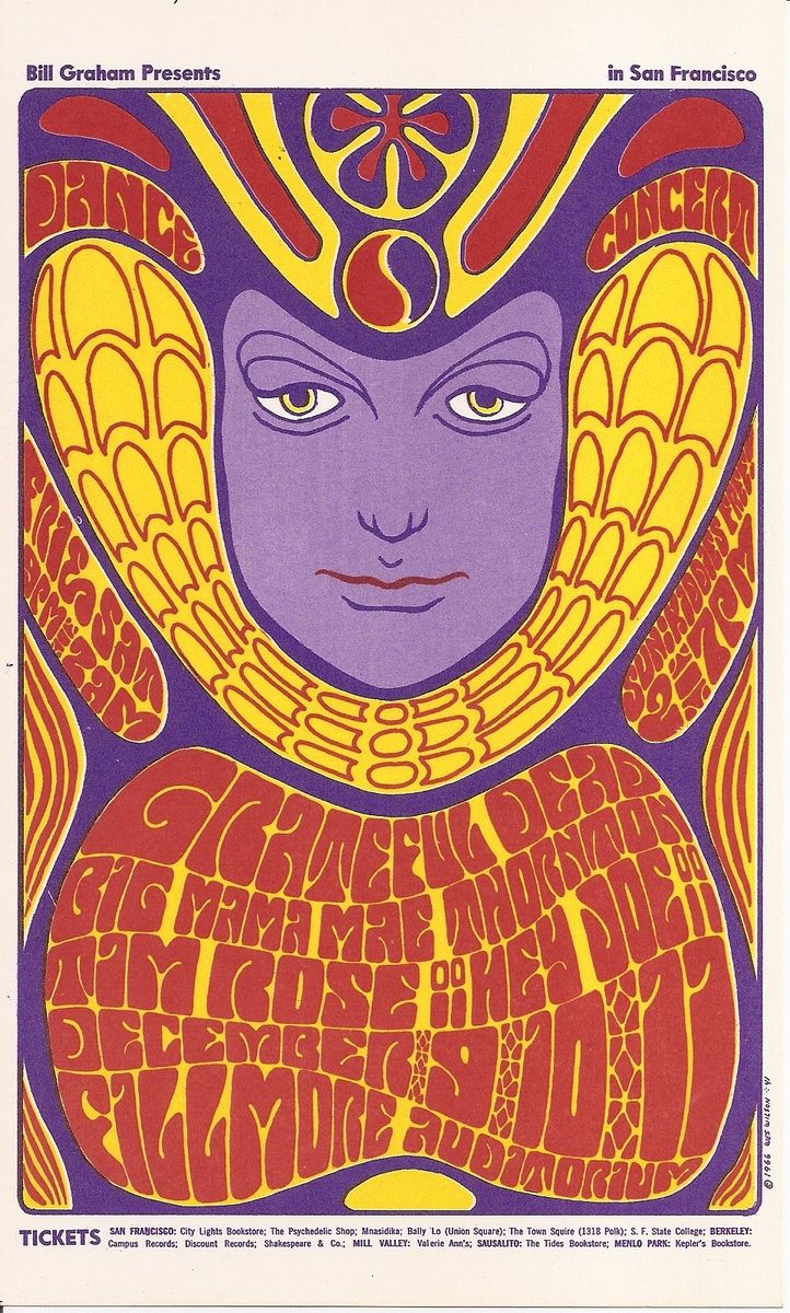 Grateful Dead, Big Mama Mae Thornton, Tam Rose, and Hey Joe. At the Fillmore, December 9th, 10th, and 11th, 1961.