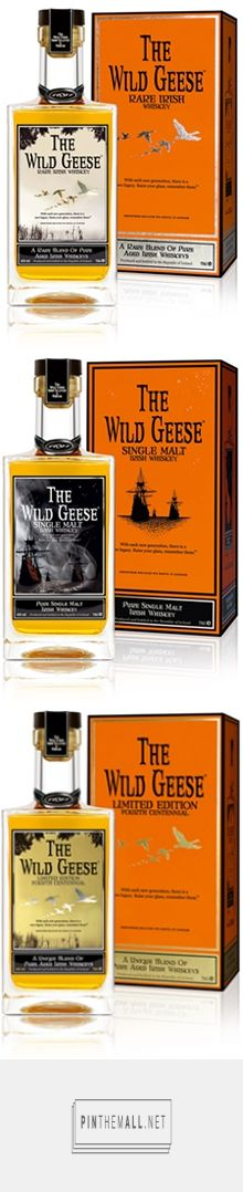 The Wild Geese Irish Whiskey Collection curated by Packaging Diva PD. Nice!