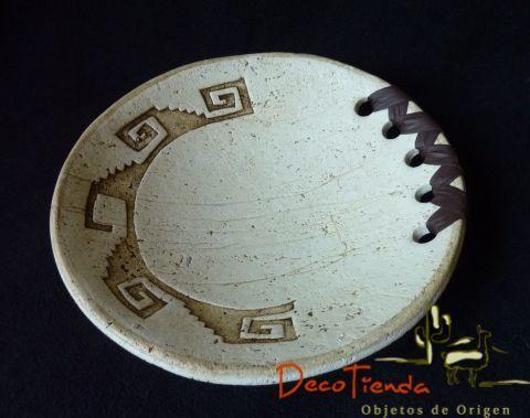 Plato circular mediano en pasta piedra - Decotienda | Objetos de diseño