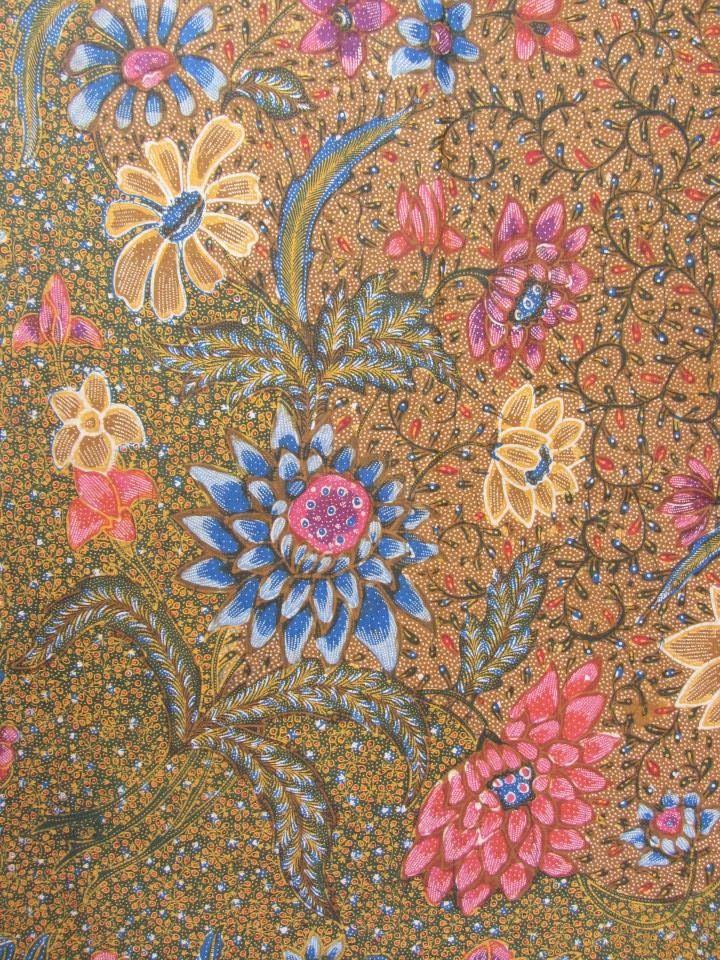 Demakan combination (stamp - handrawn). Vintage Indonesian Batik